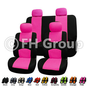 4 Detachable Headrests and Solid Bench PINK