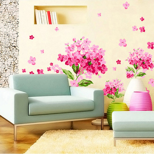 Great Pink Flower Removable Wall Stickers Vinyl Decals Home